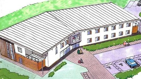 An artist's impression of the new Grove Medical Centre at Felixstowe - hopes of a pharmacy in the bu