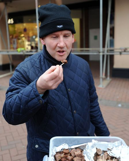 People in Ipswich were invited to try beef sausages then compare them with horse sausages in a blind