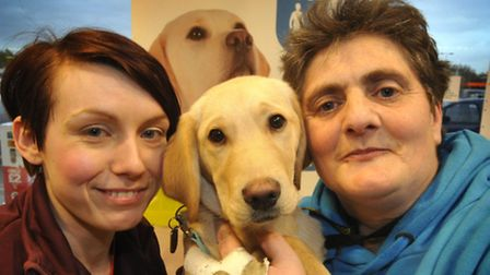 Sainsbury's clothing assistant, Jodie Wiernicki, East and Mid Suffolk guide dogs for the blind volun