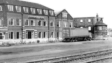 A Ransomes and Rapiers office block facing the River Orwell.
