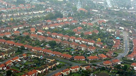 Council homes at Priory Heath.