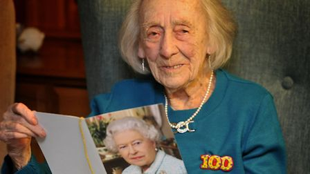 Catherine Taylor celebrates her 100th birthday at Margery Girling House, Gosford Way, Old Felixstowe