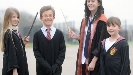 Year 5 pupils from Cedarwood Primary School in Kesgrave dressed as characters from Harry Potter for
