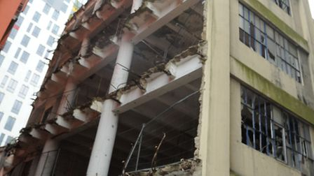 The old Burtons building on the Ipswich waterfront is set to be boarded up