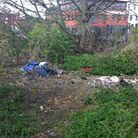 Rubbish, sleeping bags, and evidence of drug taking near the Riverside Walk in Ipswich.