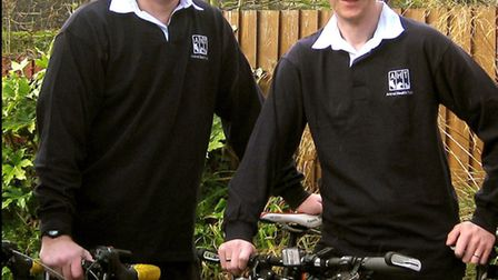 Andy Murray and Steve D'Eath of Ipswich will be taking part in Nightrider, a 100km moonlit ride thro