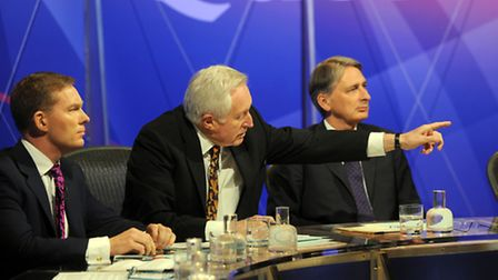 David Dimbleby presents Question Time, filmed at the Corn Exchange in Ipswich.