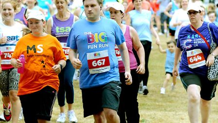 Runners set off in the picturesque Christchurch Park on Saturday for the Ipswich Big Fun Run to rais