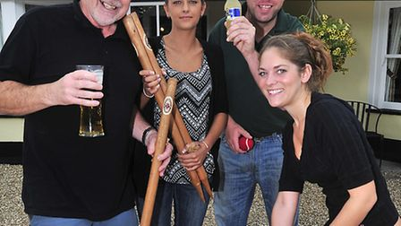 The village of Wickham Bisphops that was home to England Cricket Captain Alastair Cook celebrate the