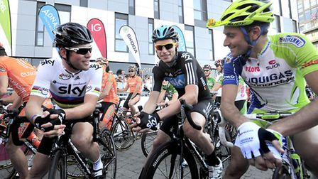 The final stage of last year's Tour of Britain started at Ipsich's Waterfront. Team Sky's Mark Carve