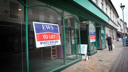 Empty shops in Ipswich town centre. There are proposals to perhaps turn some of these premises into