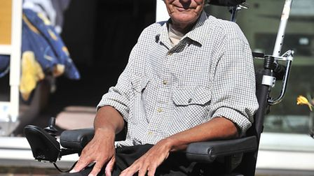 Wheelchair bound Ivan West of Ipswich who was involved in an incident with a bus in the town centre