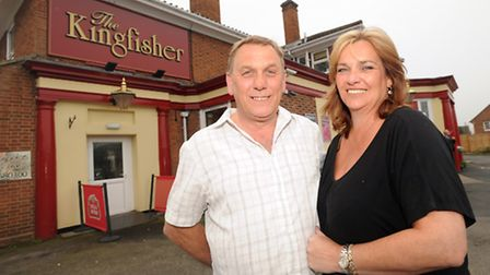 Kevin Ridgeon, with wife Julie. The couple ran the Kingfisher Pub in Chantry together until his deat