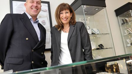 Mark and Tessa Riley, of Riley and Riley Jewellers in Ipswich, were runners-up in the Ipswich Indepe
