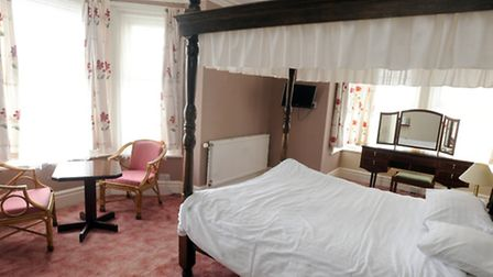 A double room in the Marlborough Hotel in Felixstowe.