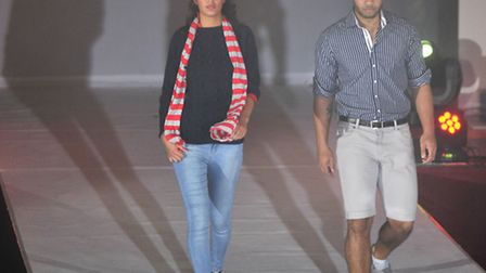 Models walk the catwalk in Ipswich Fashion Week's show at the Corn Exchange on Wednesday, 09 October