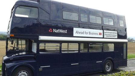 The NatWest business bus which is coming to Ipswich.