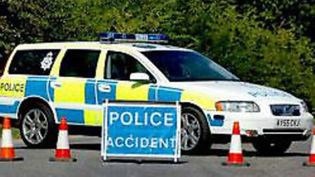 Police were called after a collision in Wickhambrook yesterday