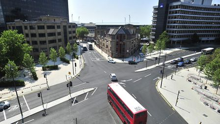 Civic Drive Junction from the roof of The Willis Building