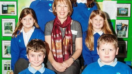 Sandra Doman, from Birchwood Primary school with the School Eco Council.