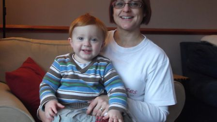 Ann Lay of Baby Senses with her youngest son, Callum
