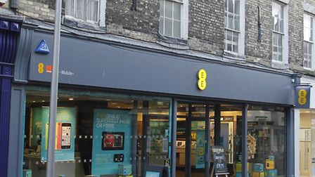 The EE shop in Ipswich. EE are rolling out their 4G network in the town before Christmas