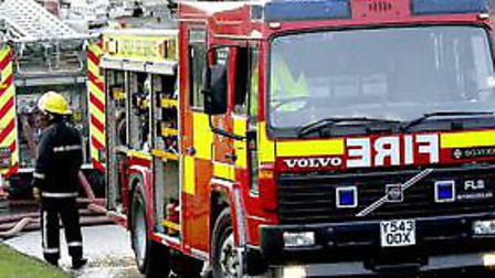 Firefighters attended a house fire in Ipswich in the early hours of this morning