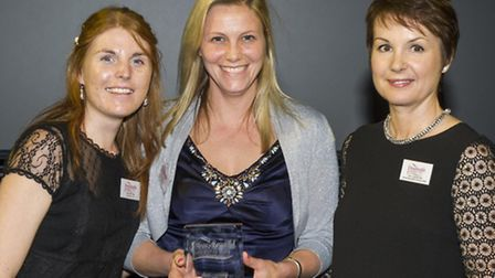 Cassie Rowland and Emma Kerridge of Jim Lawrence Traditional Ironwork receive the House Beautiful Be