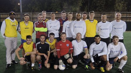 Ipswich business IV Offshore and Seven Social Care took part in a five-a-side footbal tournament to