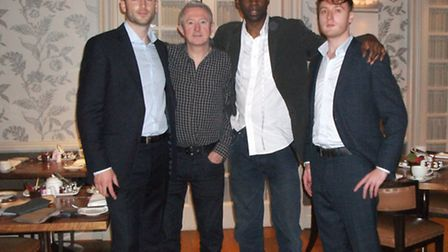 GBC (Gentlemen by Conduct), meet Louis Walsh the X factor judge and celebrity customer. Left to rig