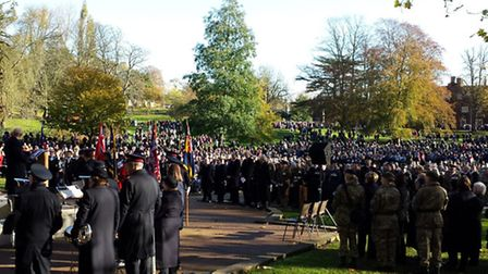 Thousands of people honoured members of the Armed Forces killed in conflict at the annual Remembranc