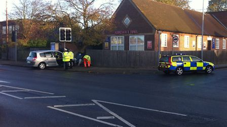 Police and paramedics were called to Norwich Road at around 7.20am today following the collision clo