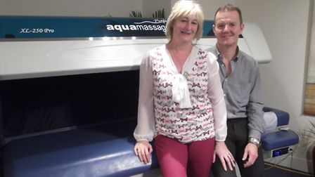 Richard and Kay Klein at their InvigR8 micro spa in Foxhall Road, Ipswich.