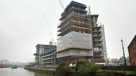 Arrests were made by immigration officers on a building site on Stoke Quay, Ipswich.