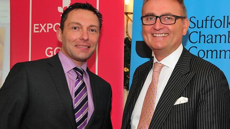 Suffolk Chamber of Commerce chief executive John Dugmore, left, with British Chambers of Commerce d