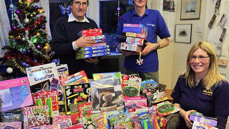 Ipswich Kleeneze team have raised money for Christmas gifts for Barnardos with the help of their cus