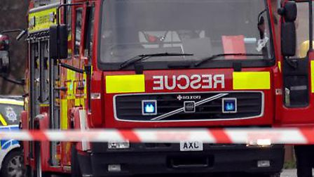 Fire crews attended a blaze in Felixstowe this morning.