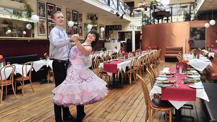 Oliver Reeves and Danielle Cook take to the dance floor at Arlingtons Restaurant
