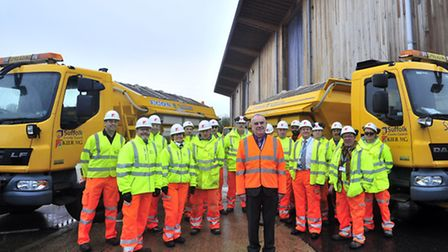 The of Suffolk Highways gritting season launch at the start of the winter.