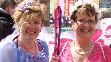 Photo, from left to right: Kerseys staff Sharon Wragg, Pam Daynes and Judy Sykes, from Kerseys, dres