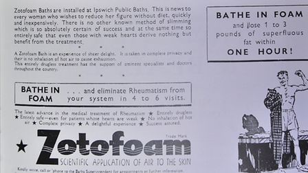 Reproduction commemorative brochure from the opening of Broomhill Pool