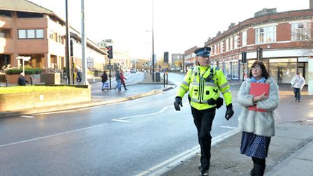 Suffolk County Council and Suffolk Police took to the streets and retail parks of Ipswich to tackle