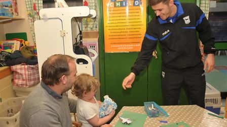 Ipswich Town FC players and their manager Mick McCarthy paid a special visit to the Bergholt childr