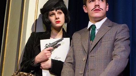 Four students at Ipswich School put on a production of The 39 Steps, based on the book by John Bucha