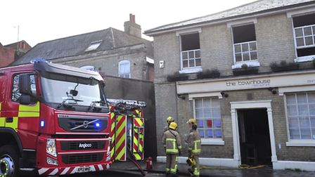 Dramatic pictures of fire at popular Ipswich Restaurant. The Town House.