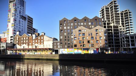 A sunny winter's day on Ipswich Waterfront