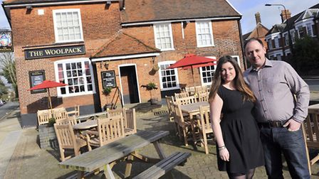 Marita Rodwell and Greig Barnes have re-opened the Woolpack as a traditional pub after a major inves