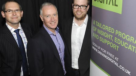 Drive Digital is an initiative to upskill business people in Ipswich. Pictured from left are Justin