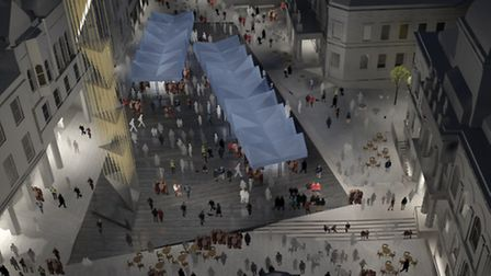 An architects impression of the proposed new look for Ipswich Cornhill