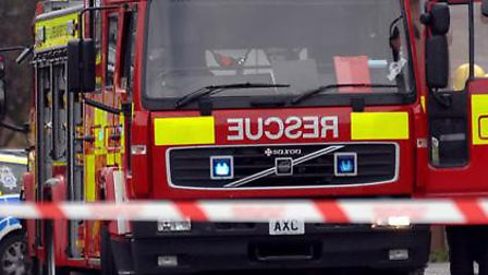 Children have been praised for their help in stopping a fire from spreading at a home